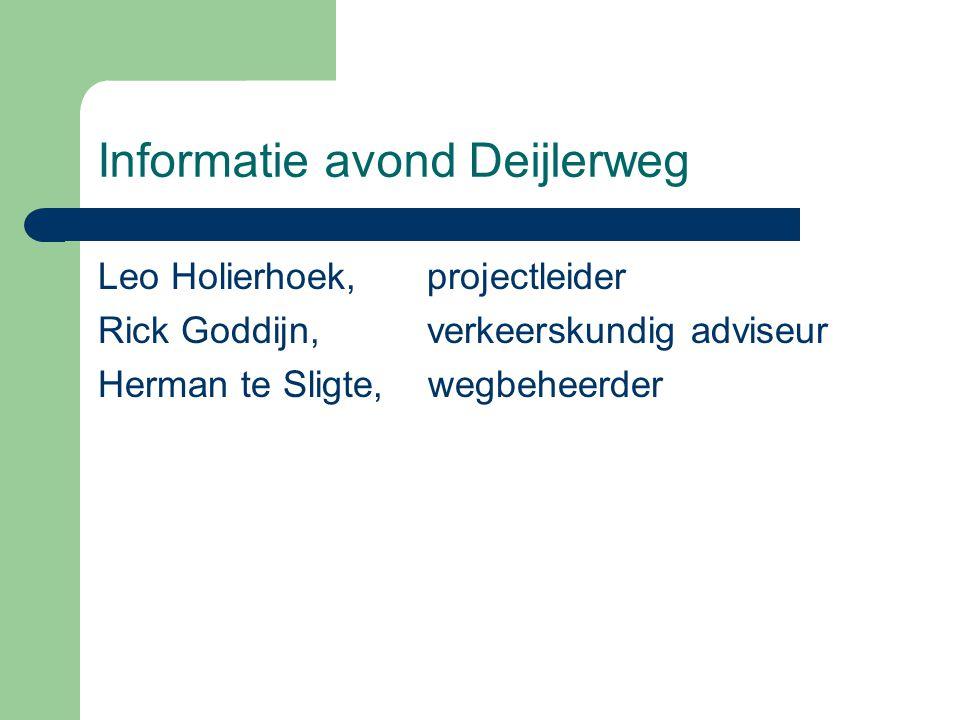 Informatie avond Deijlerweg
