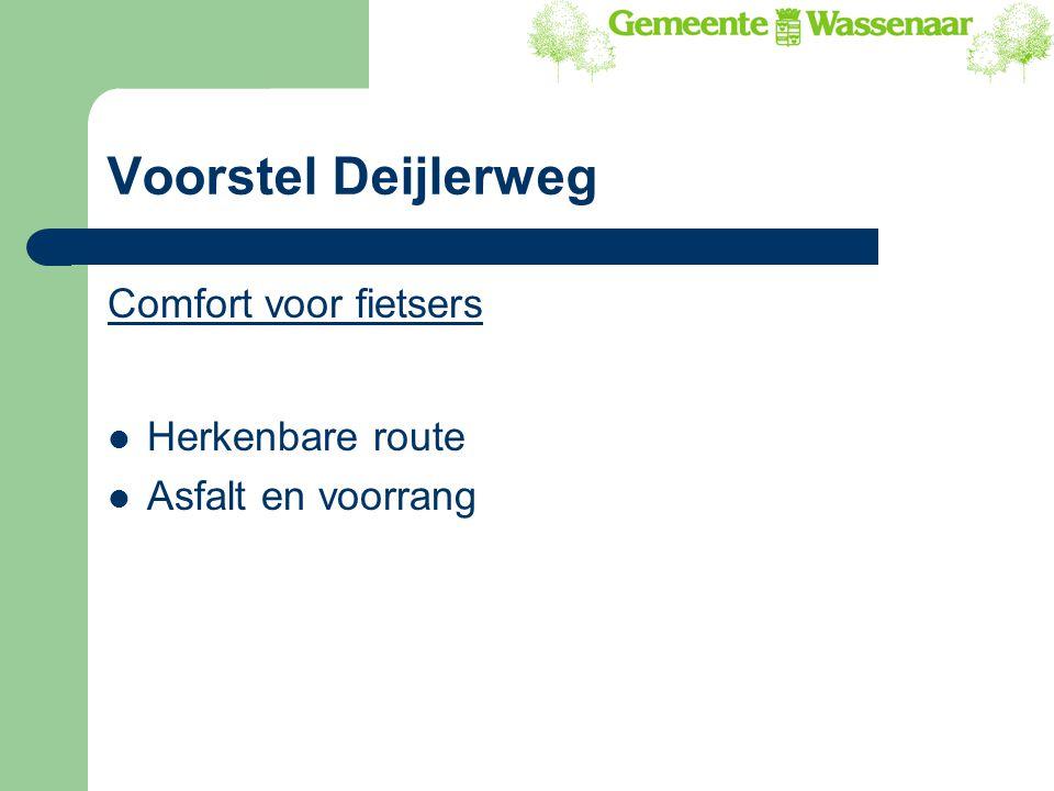 Voorstel Deijlerweg Comfort voor fietsers Herkenbare route