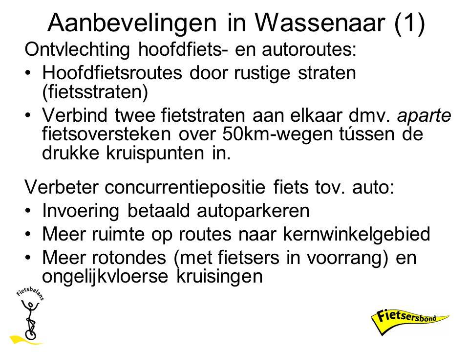 Aanbevelingen in Wassenaar (1)