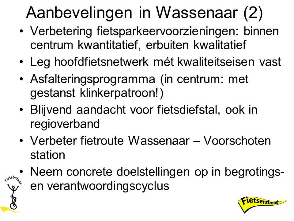 Aanbevelingen in Wassenaar (2)