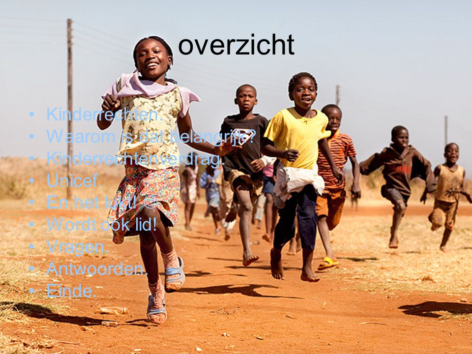overzicht Kinderrechten. Waarom is dat belangrijk