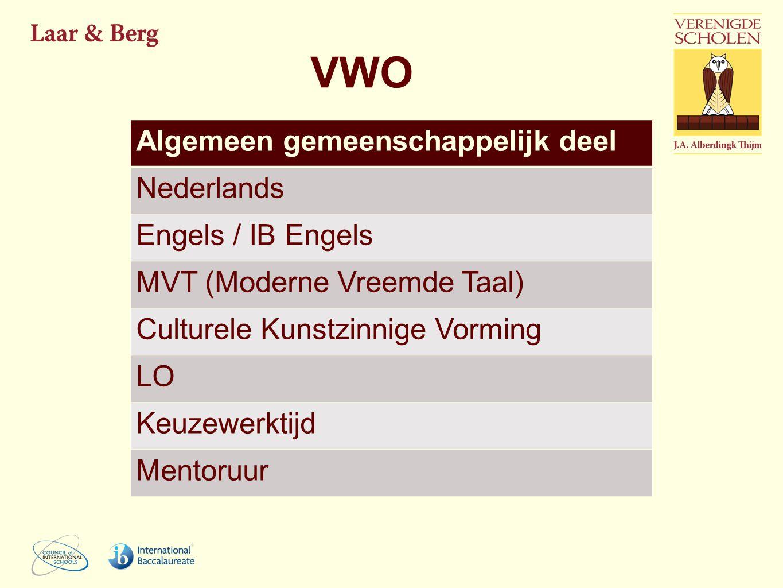 VWO Algemeen gemeenschappelijk deel Nederlands Engels / IB Engels