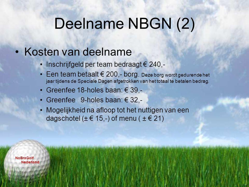 Deelname NBGN (2) Kosten van deelname