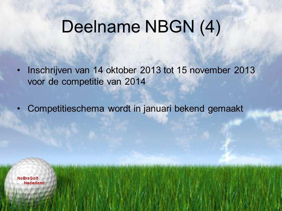 Deelname NBGN (4) Inschrijven van 14 oktober 2013 tot 15 november 2013 voor de competitie van 2014.