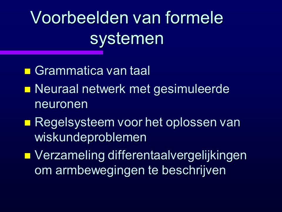 Voorbeelden van formele systemen