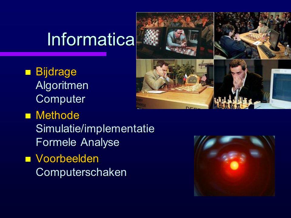Informatica Bijdrage Algoritmen Computer