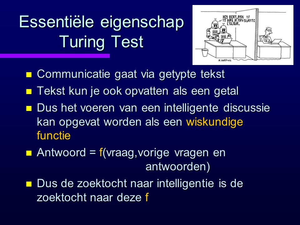 Essentiële eigenschap Turing Test