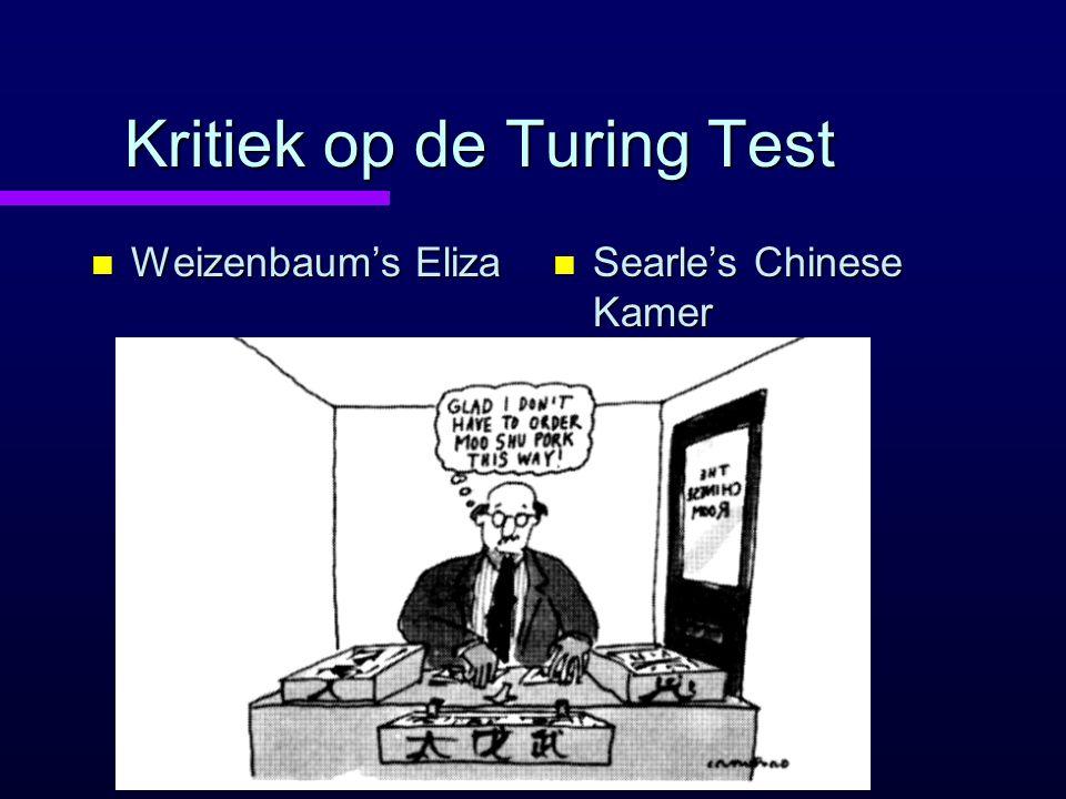 Kritiek op de Turing Test