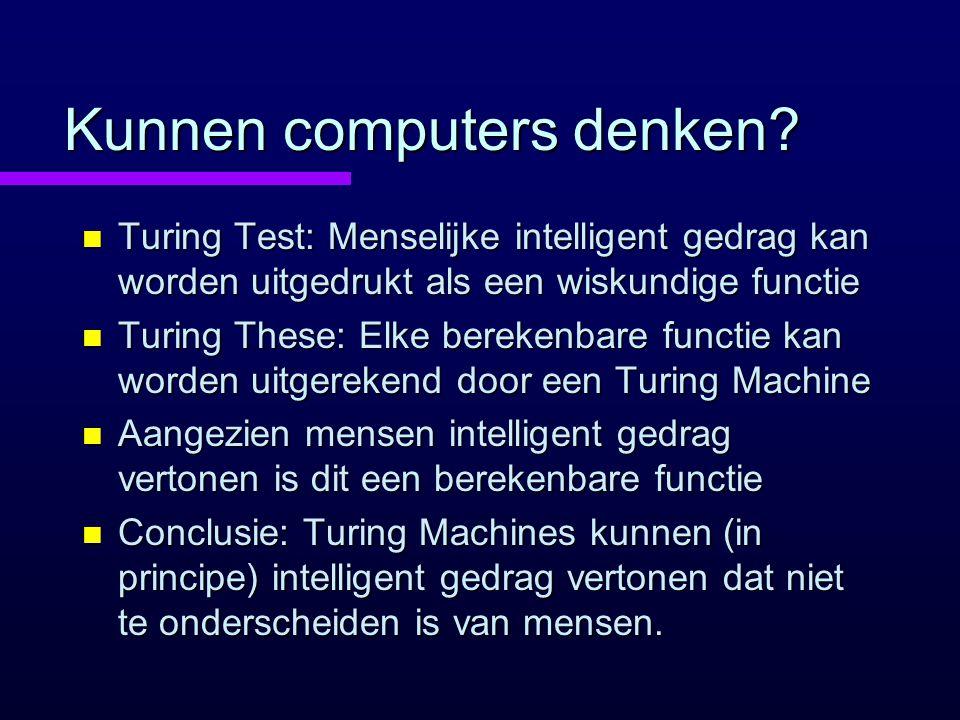 Kunnen computers denken