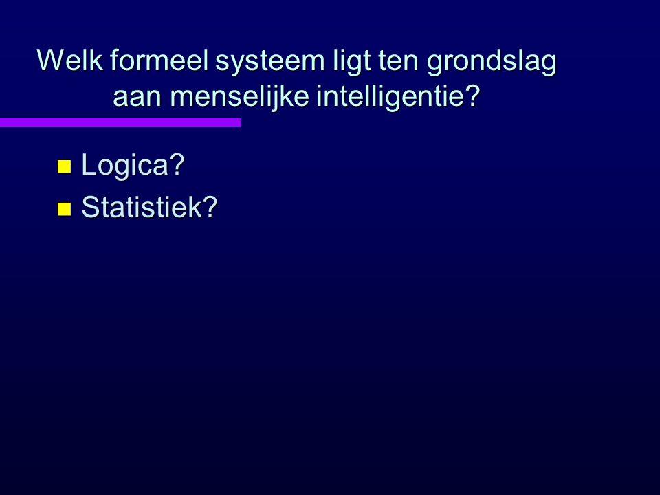 Welk formeel systeem ligt ten grondslag aan menselijke intelligentie