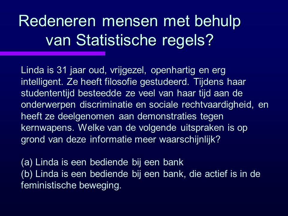 Redeneren mensen met behulp van Statistische regels
