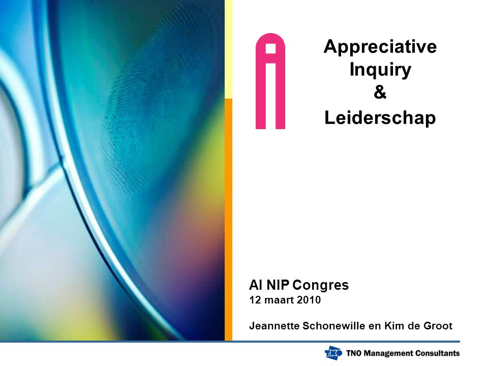 Appreciative Inquiry & Leiderschap
