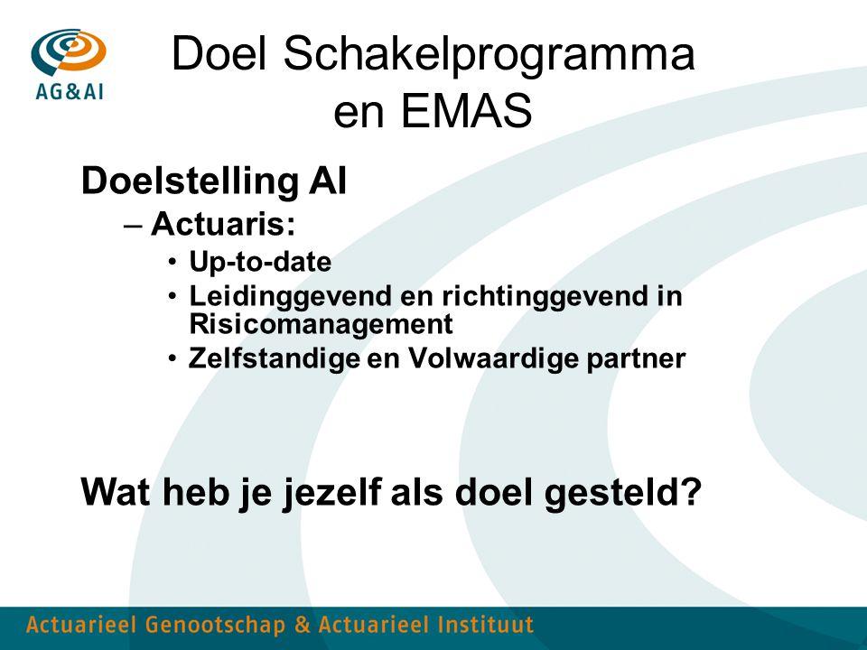 Doel Schakelprogramma en EMAS