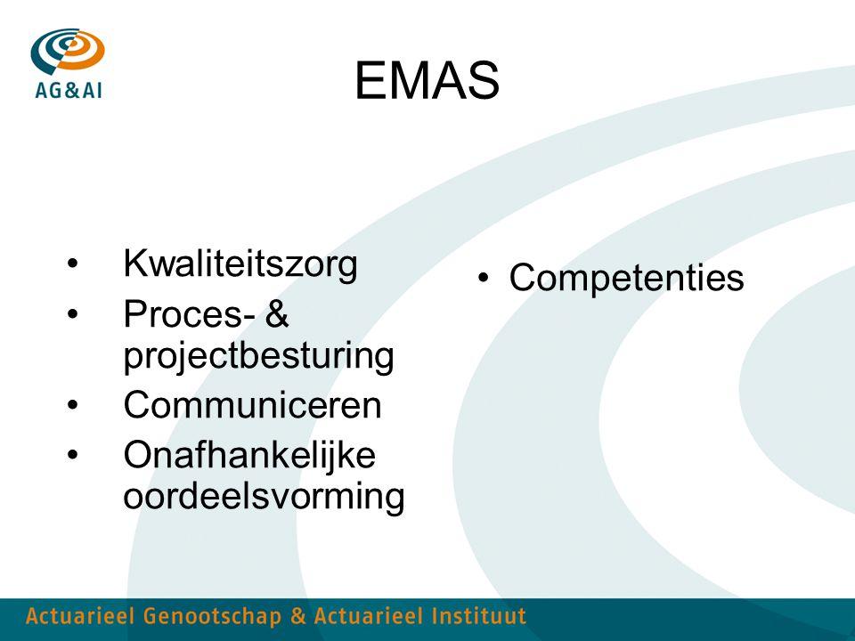 EMAS Kwaliteitszorg Proces- & projectbesturing Communiceren