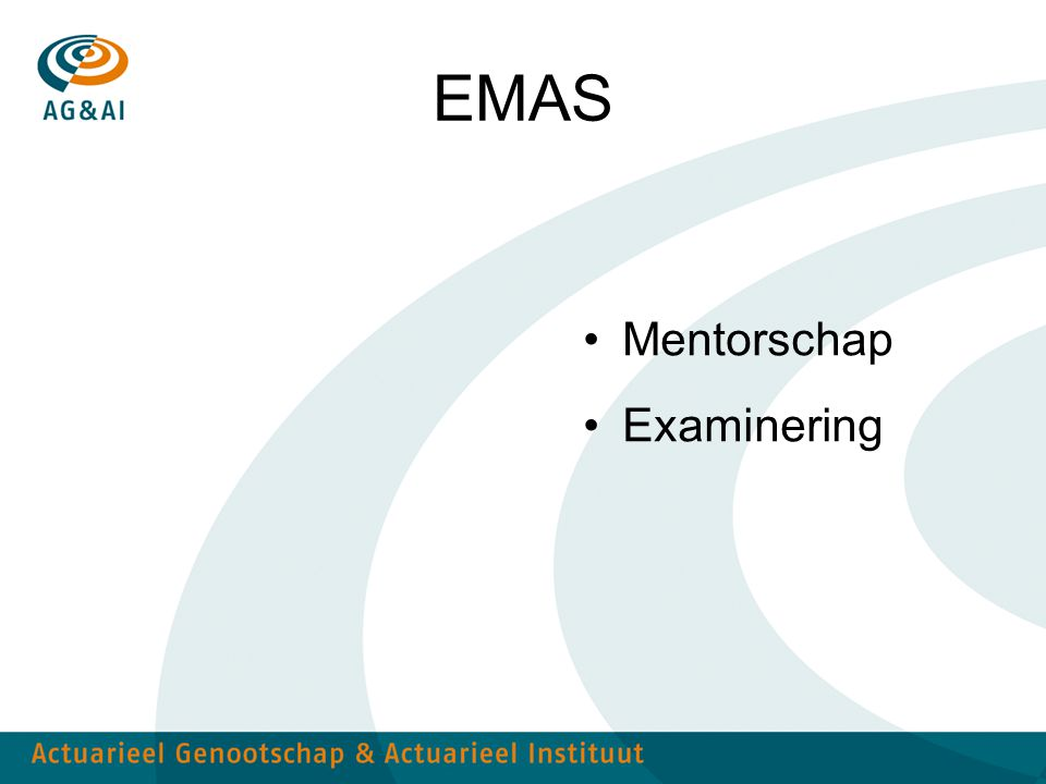 EMAS Mentorschap Examinering
