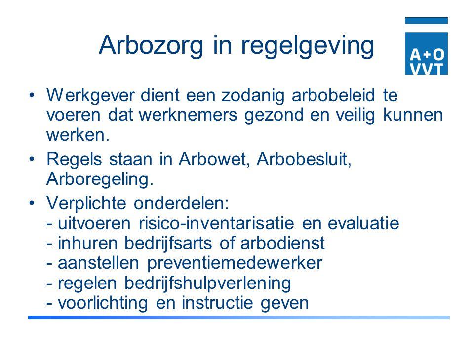 Arbozorg in regelgeving