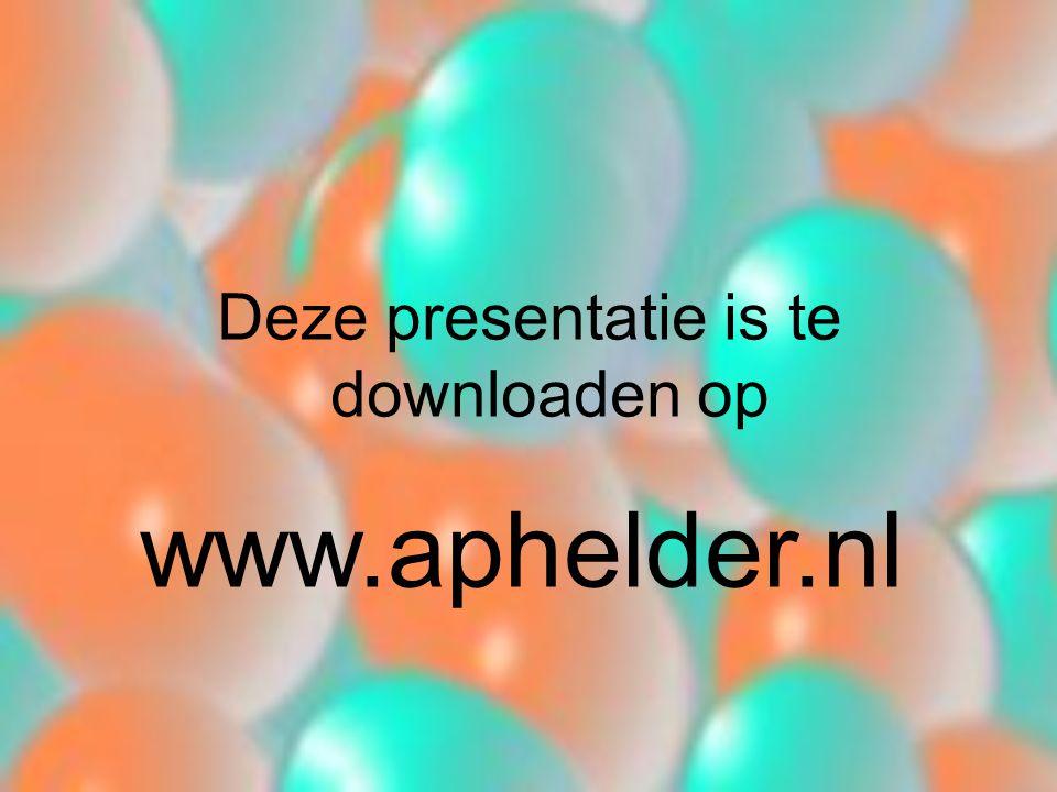 Deze presentatie is te downloaden op