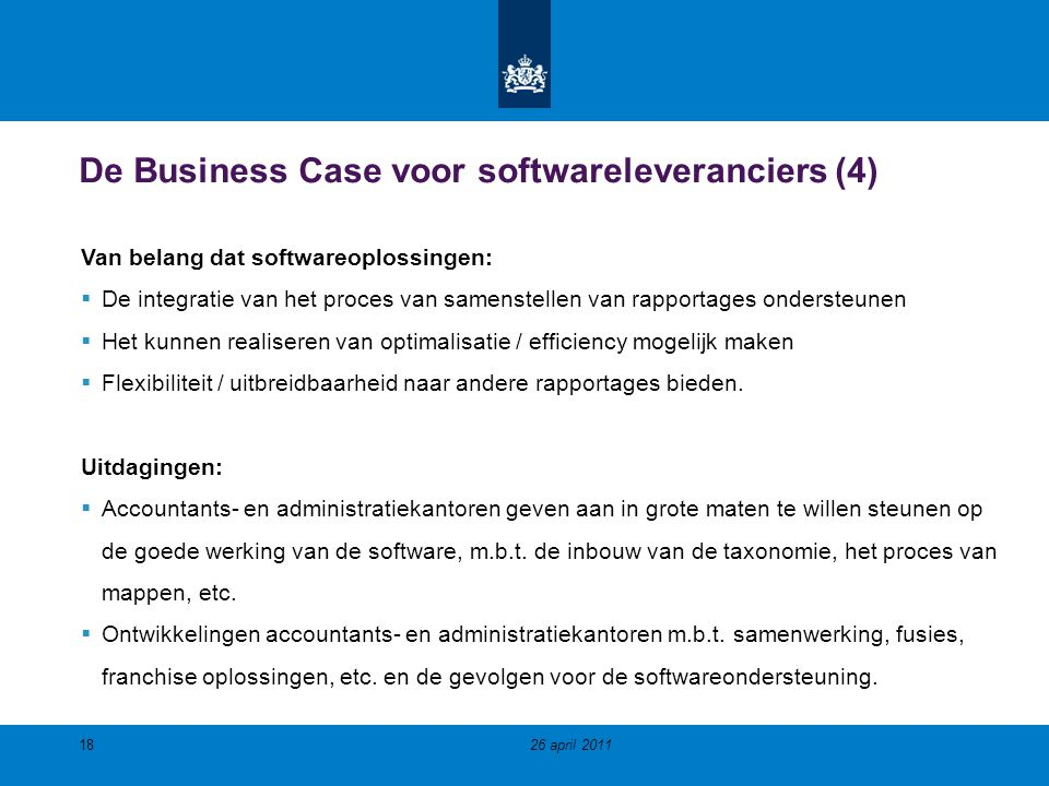 De Business Case voor softwareleveranciers (4)