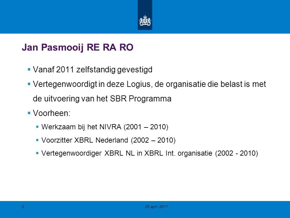Jan Pasmooij RE RA RO Vanaf 2011 zelfstandig gevestigd