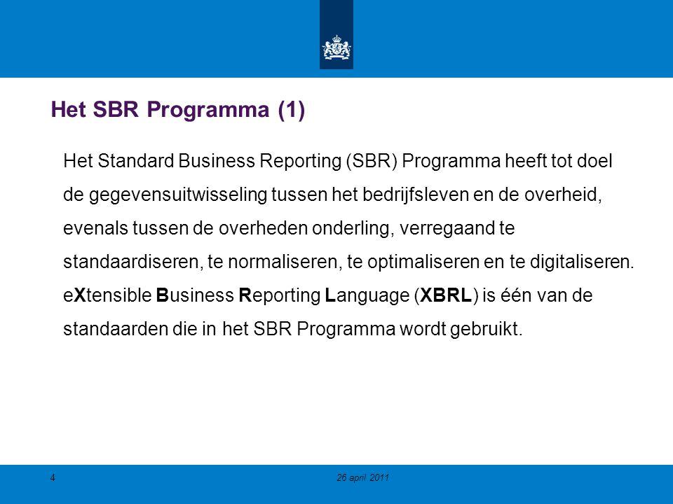 Het SBR Programma (1)