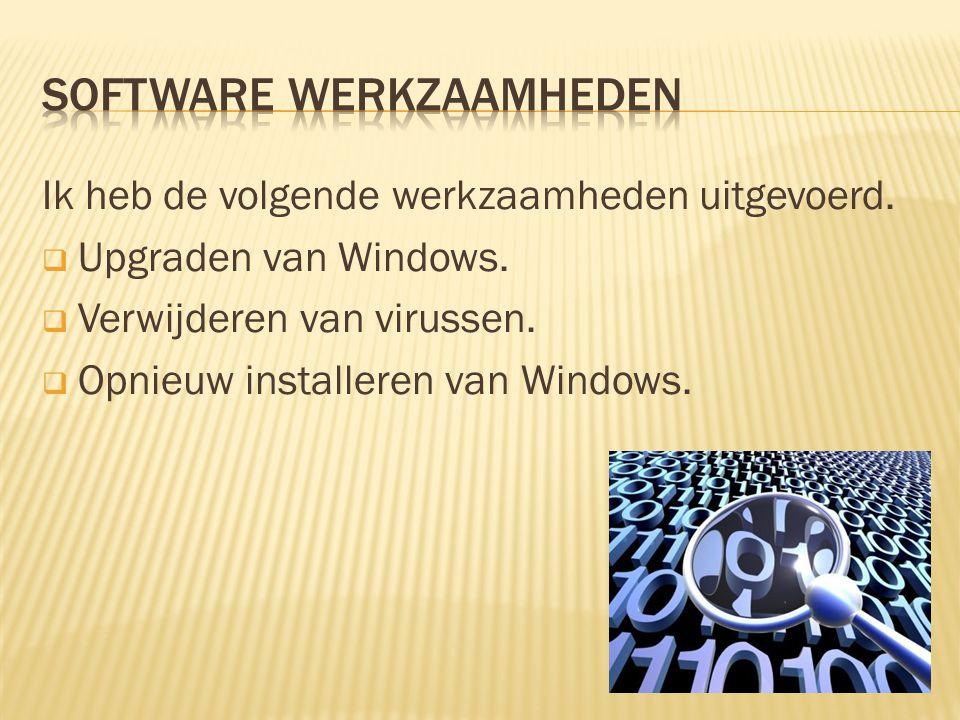 Software werkzaamheden