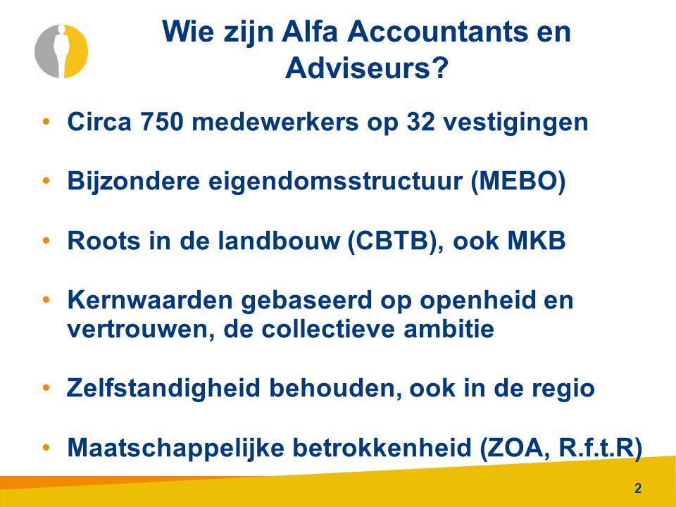 Wie zijn Alfa Accountants en Adviseurs
