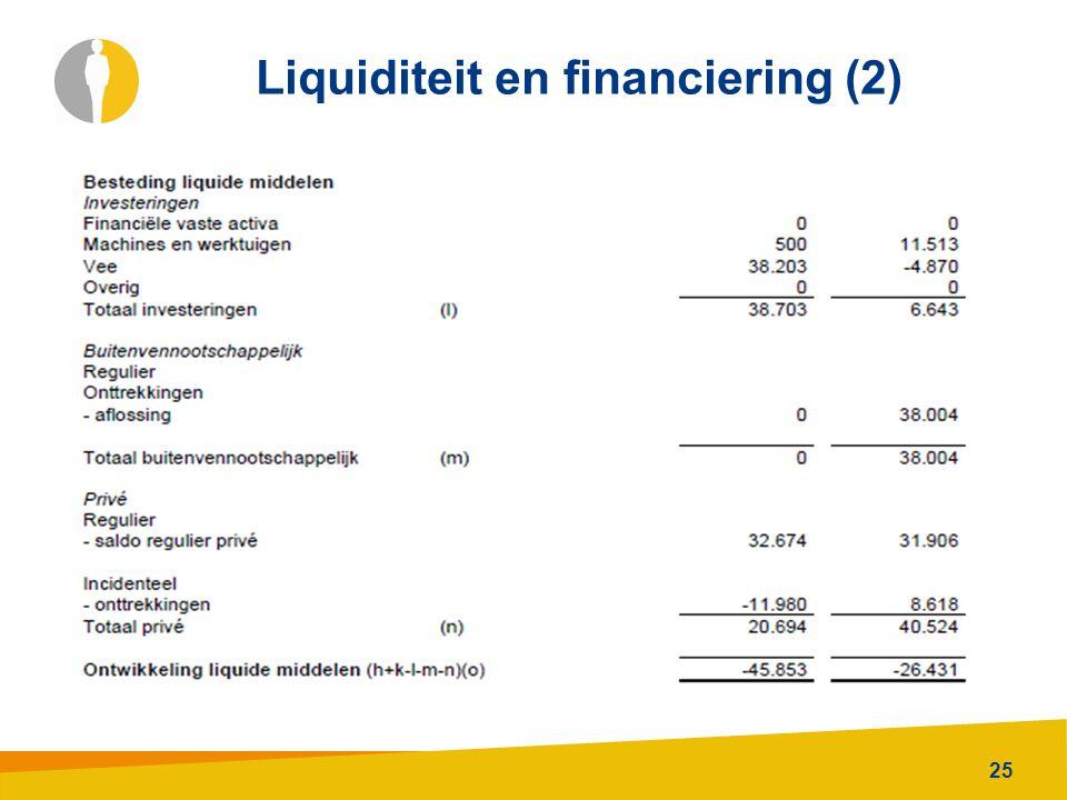 Liquiditeit en financiering (2)