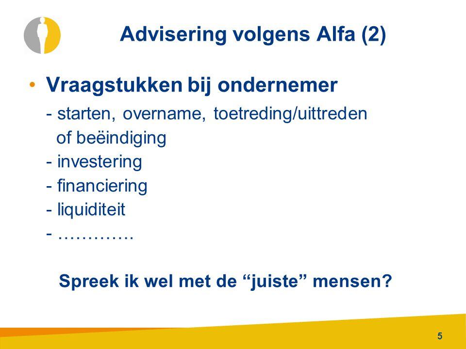 Advisering volgens Alfa (2)