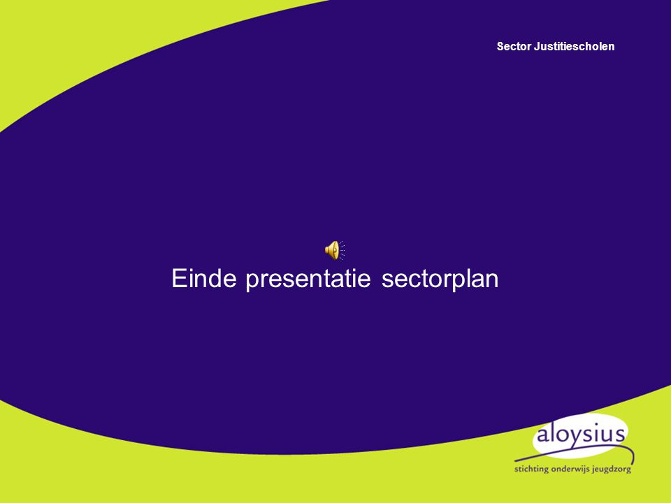 Einde presentatie sectorplan