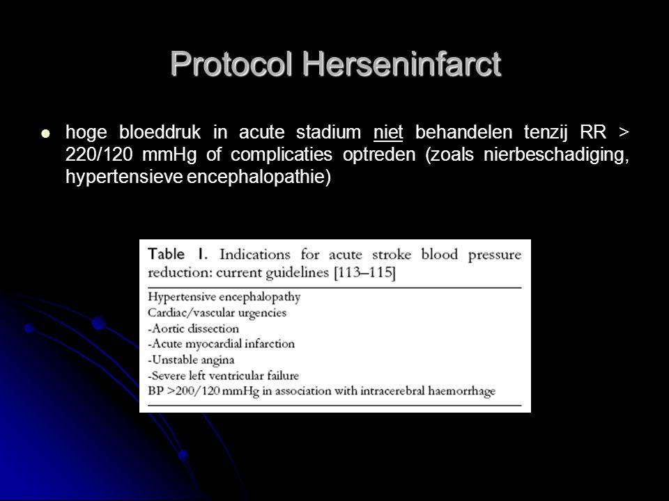 Protocol Herseninfarct