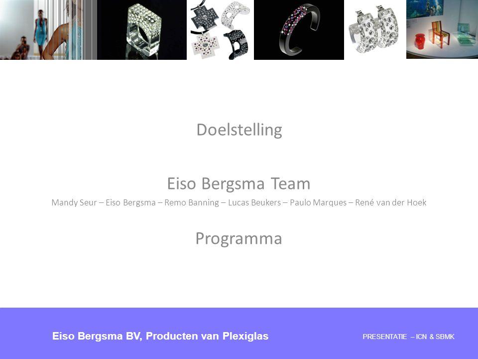 Doelstelling Eiso Bergsma Team Programma