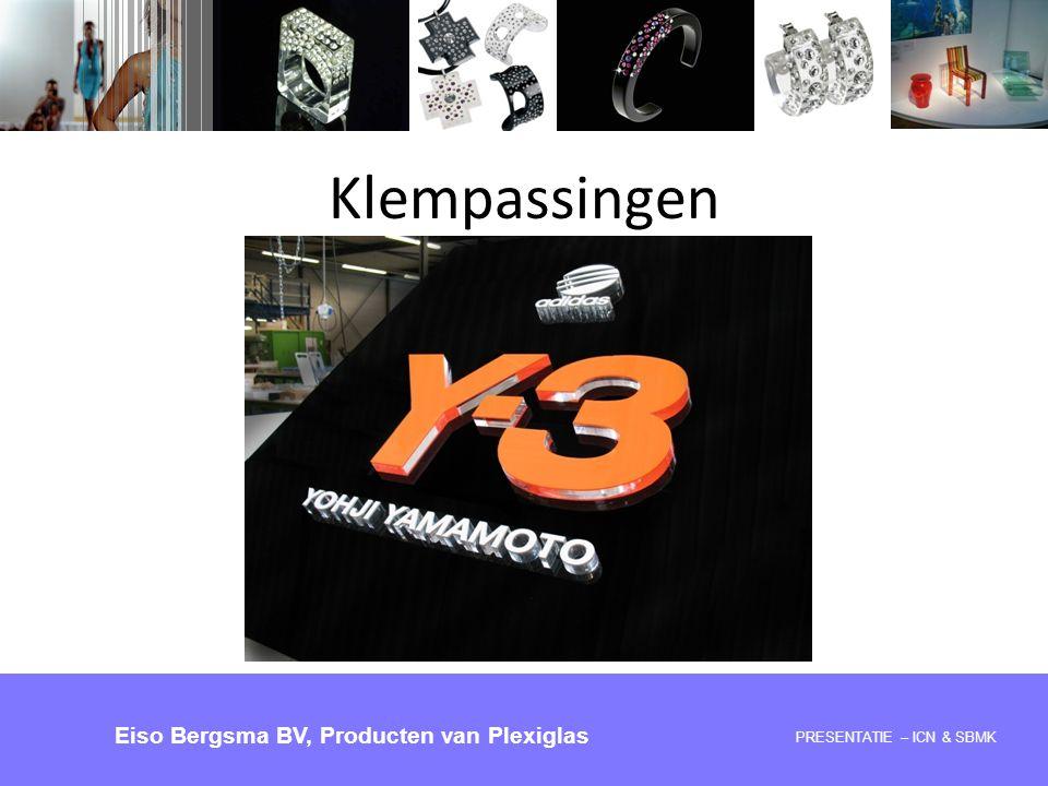 Klempassingen Eiso Bergsma BV, Producten van Plexiglas