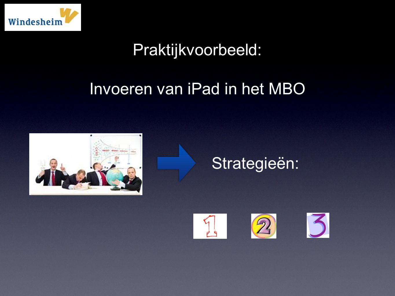 Invoeren van iPad in het MBO