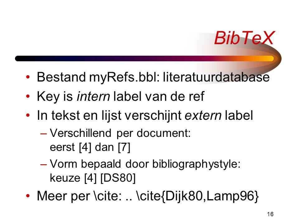 BibTeX Bestand myRefs.bbl: literatuurdatabase