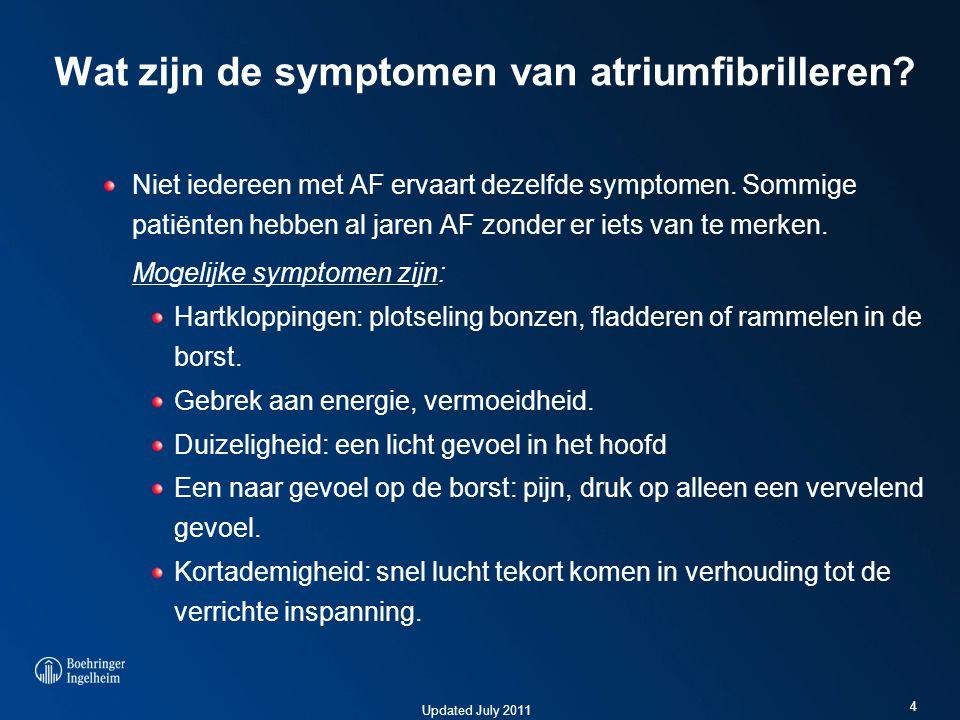 Wat zijn de symptomen van atriumfibrilleren