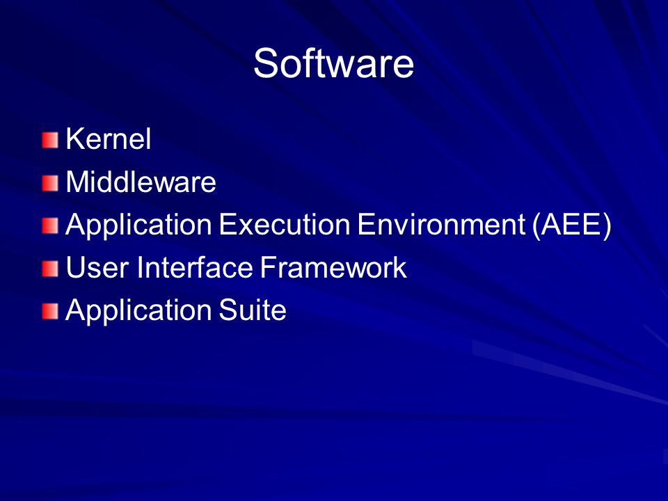 Software Kernel Middleware Application Execution Environment (AEE)