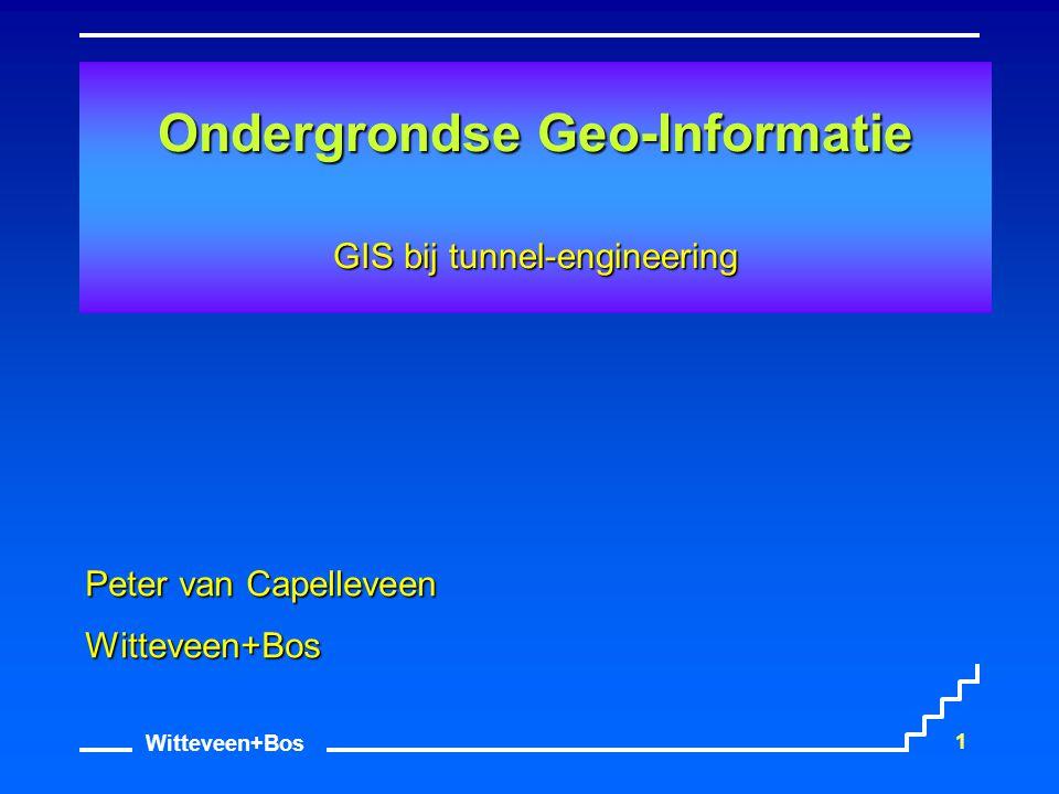 Ondergrondse Geo-Informatie GIS bij tunnel-engineering