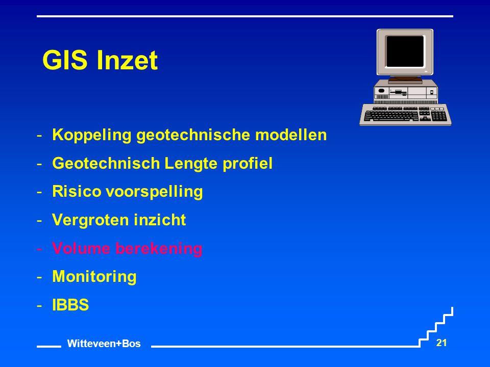 GIS Inzet Koppeling geotechnische modellen Geotechnisch Lengte profiel