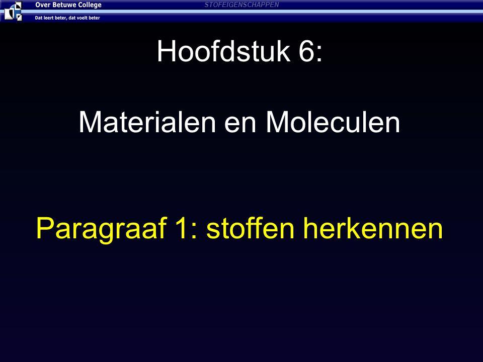 Materialen en Moleculen