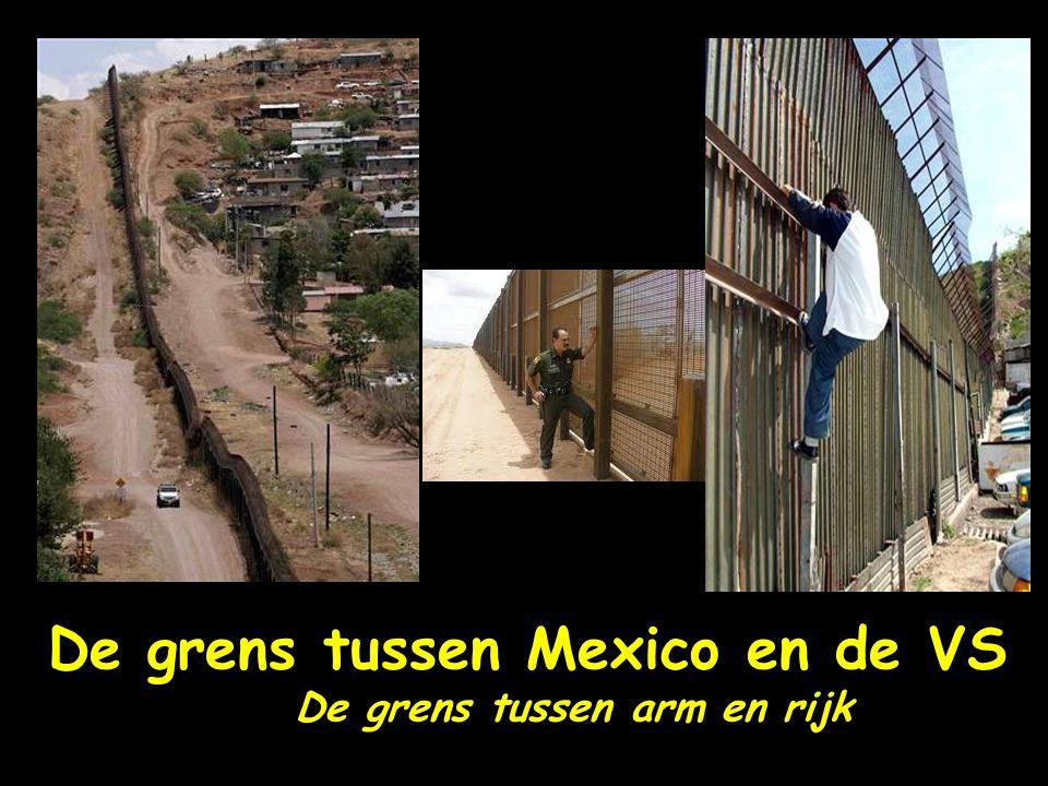 De grens tussen Mexico en de VS