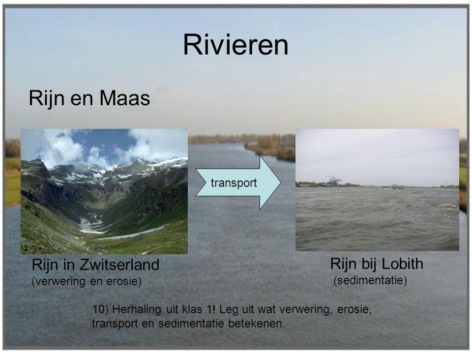 Rivieren Rijn en Maas Rijn in Zwitserland Rijn bij Lobith transport