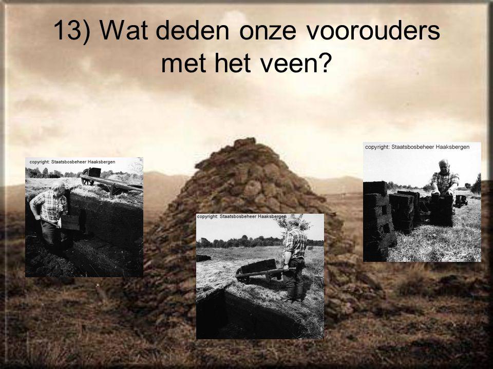 13) Wat deden onze voorouders met het veen