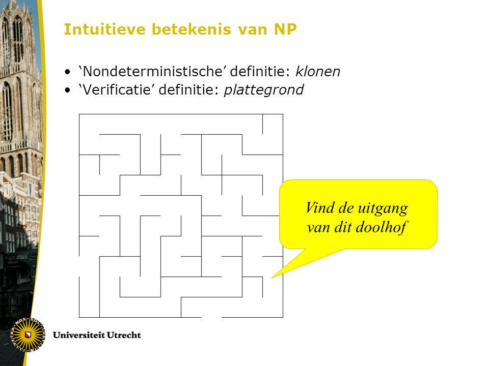 Intuitieve betekenis van NP