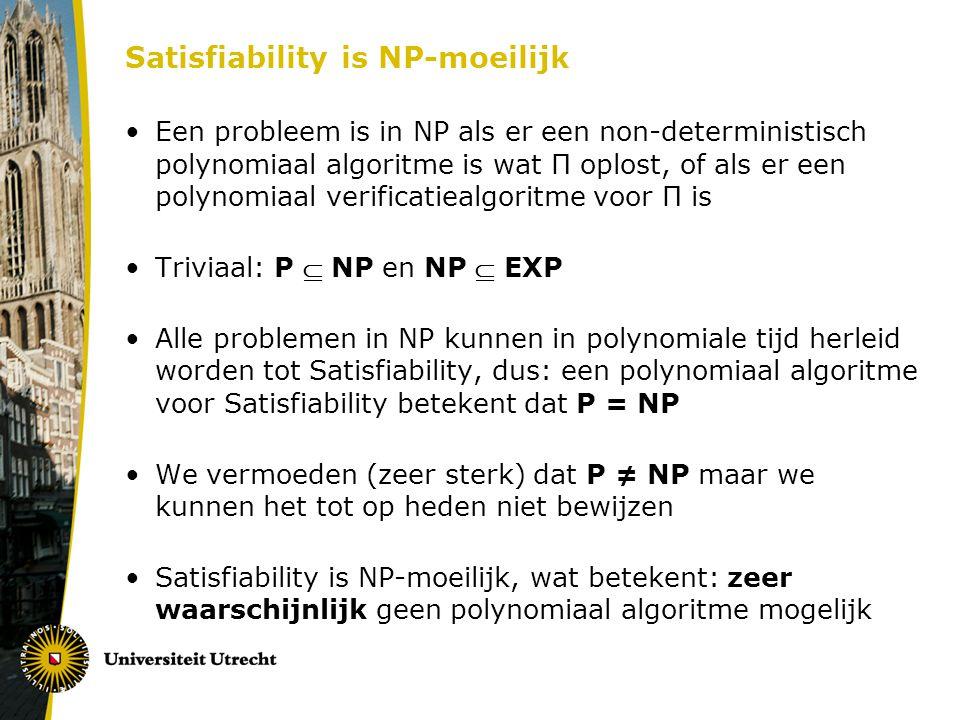 Satisfiability is NP-moeilijk