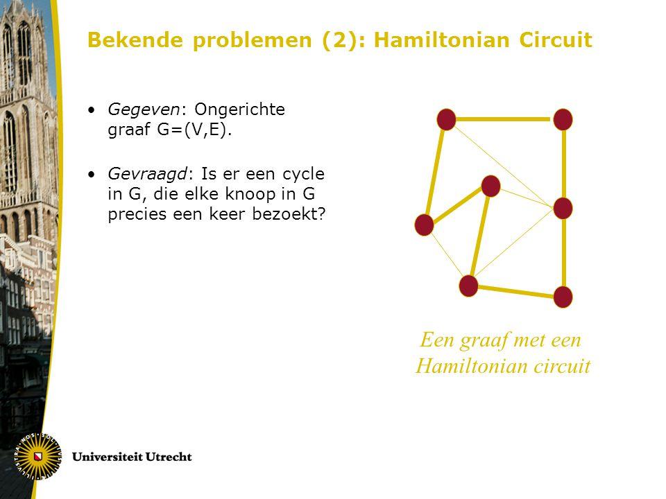 Bekende problemen (2): Hamiltonian Circuit