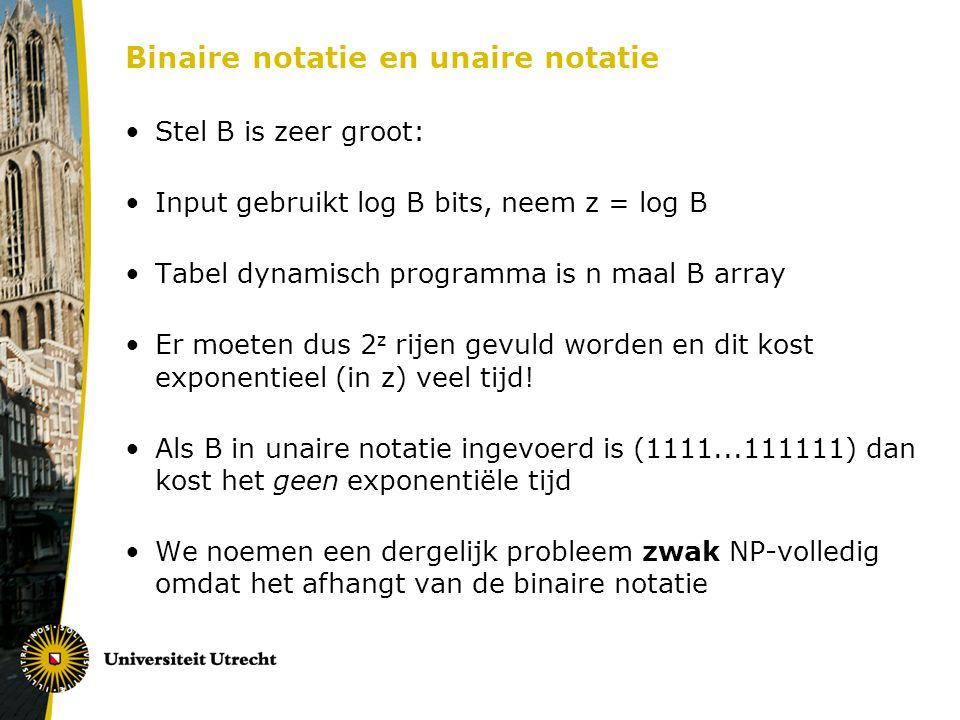 Binaire notatie en unaire notatie