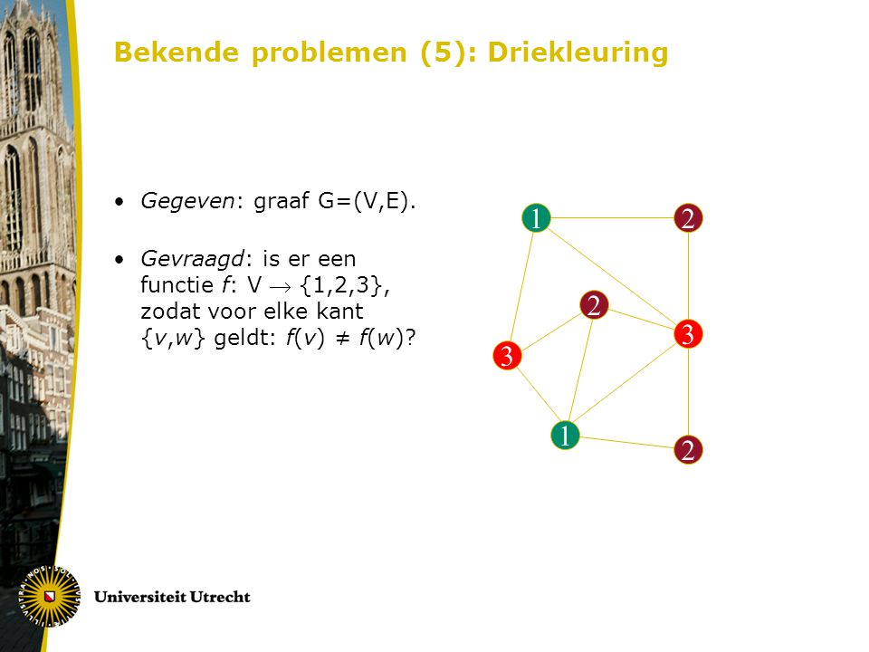 Bekende problemen (5): Driekleuring