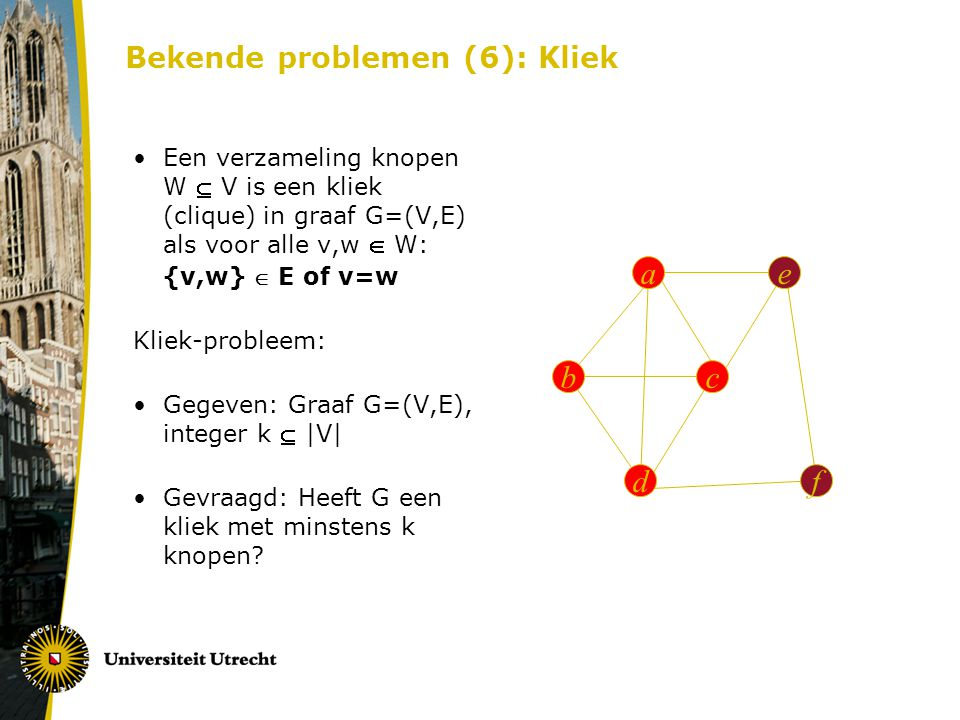 Bekende problemen (6): Kliek