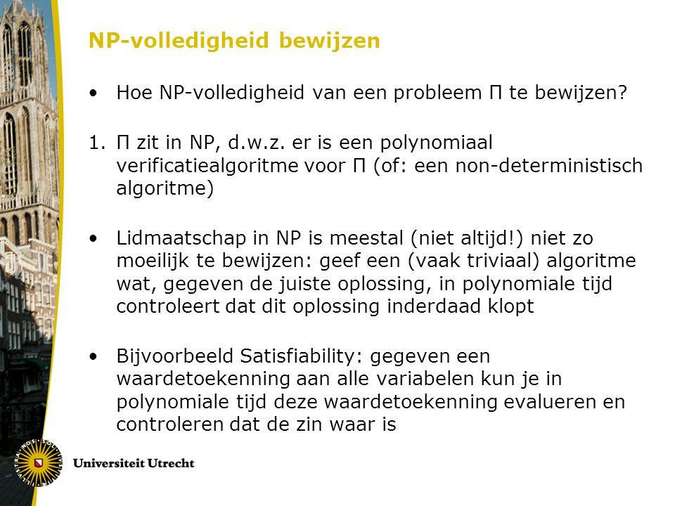 NP-volledigheid bewijzen