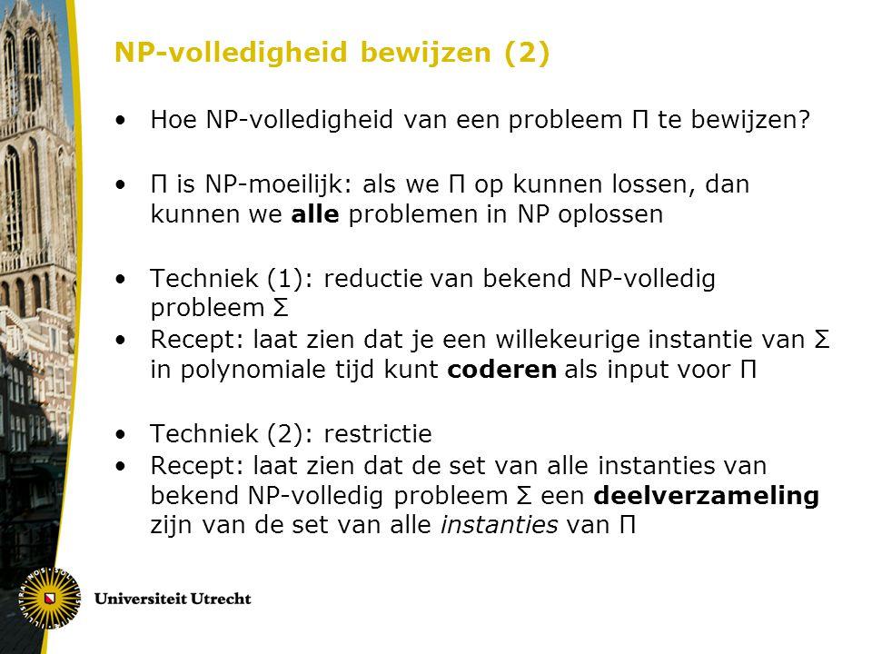 NP-volledigheid bewijzen (2)